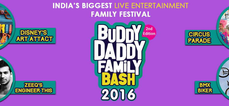 BuddyDaddy Family Bash in Haryana from November 11-13, 2016