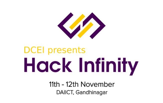 DCEI Presents Hack Infinity in Gandhinagar from November 11-12, 2017