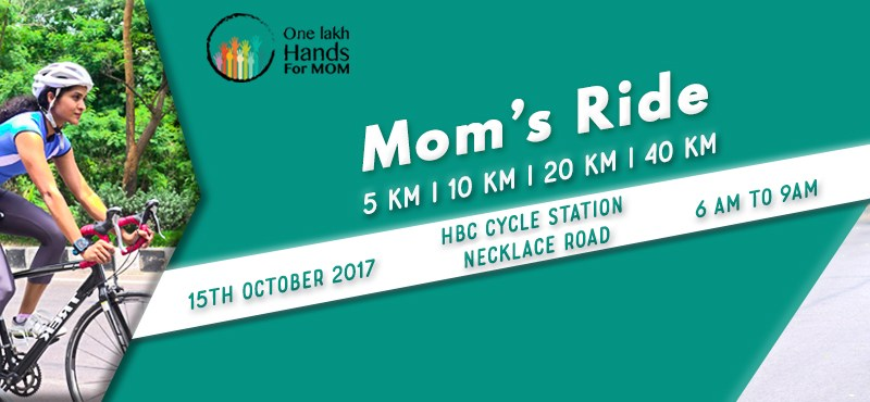 Mom's Cycling Carnival in Hyderabad on October 15, 2017