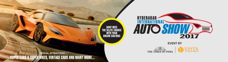 Hyderabad International Auto Show 2017 from December 2-4, 2017