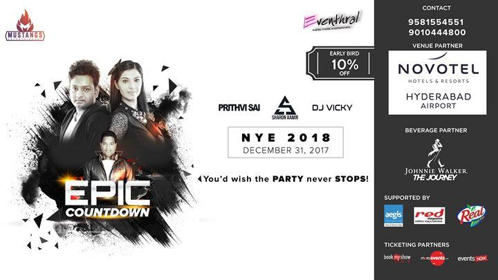 F-UNLtd - New Year Eve Party 2018 at Novotel Hyderabad Airport on December 31, 2017