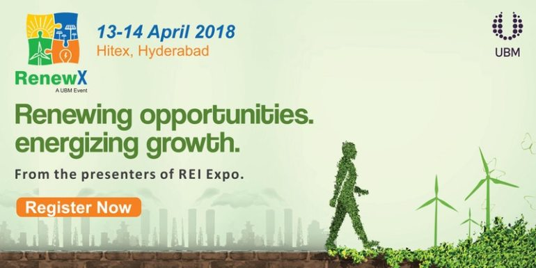 RenewX 2018 - Conference in Hyderabad from April 13-14, 2018