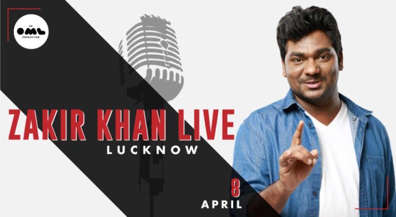 Zakir Khan Live in Lucknow on April 8, 2018