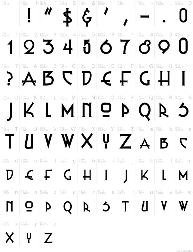 Russel Write TT font