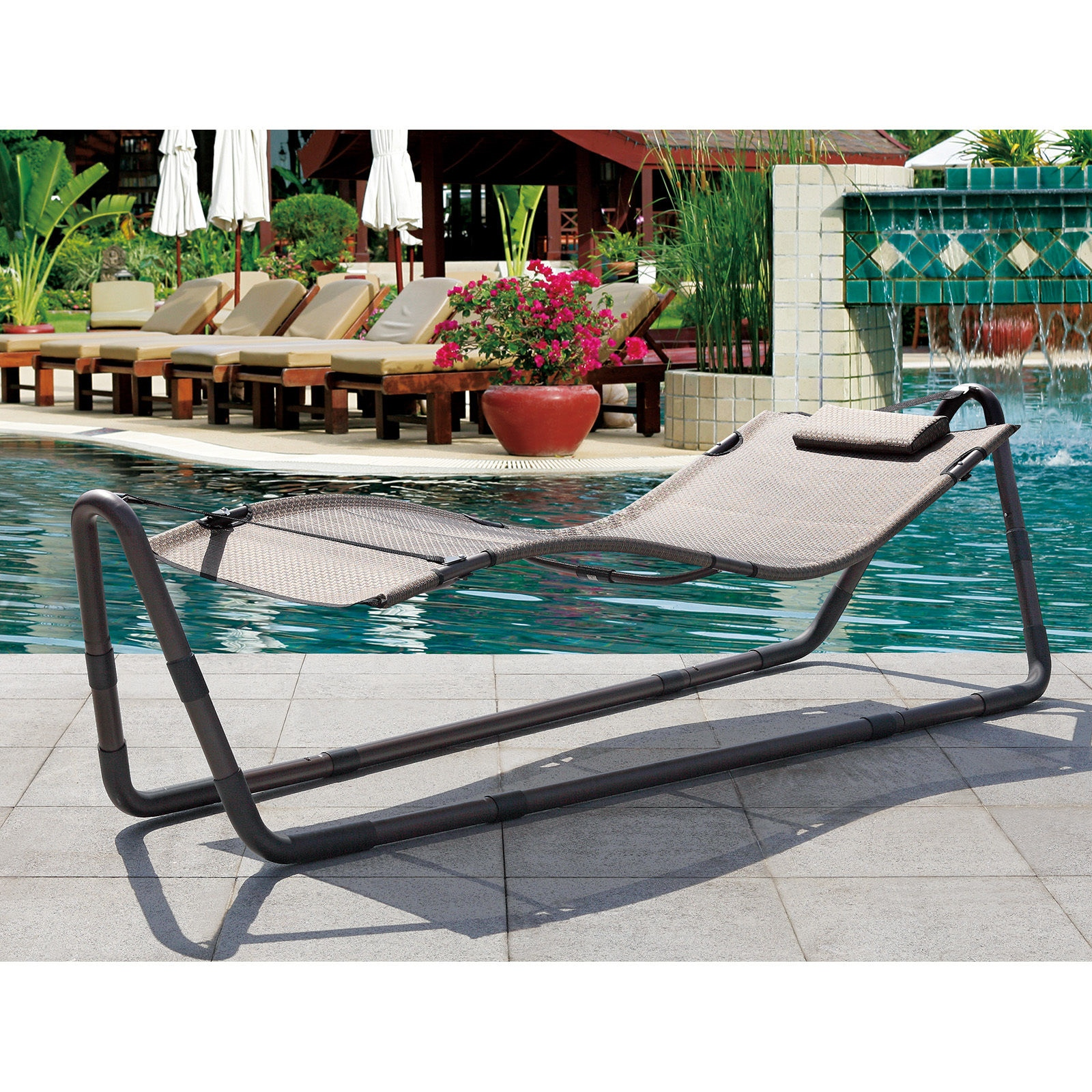 Modern Outdoor Patio Hammock Sun Bed Deck Pool Lounge Chair