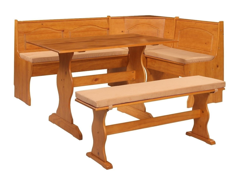 Beige PVC 4 Piece Nook Cushion Set Corner Bench Booth