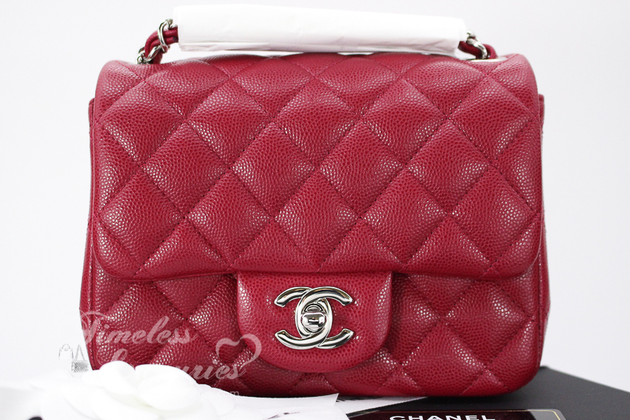 7ae731af655ea6 Chanel Bags Card Wallet Poshmark. New Chanel 18B Raspberry Pink Caviar  Square Mini Flap Bag Silver Hw