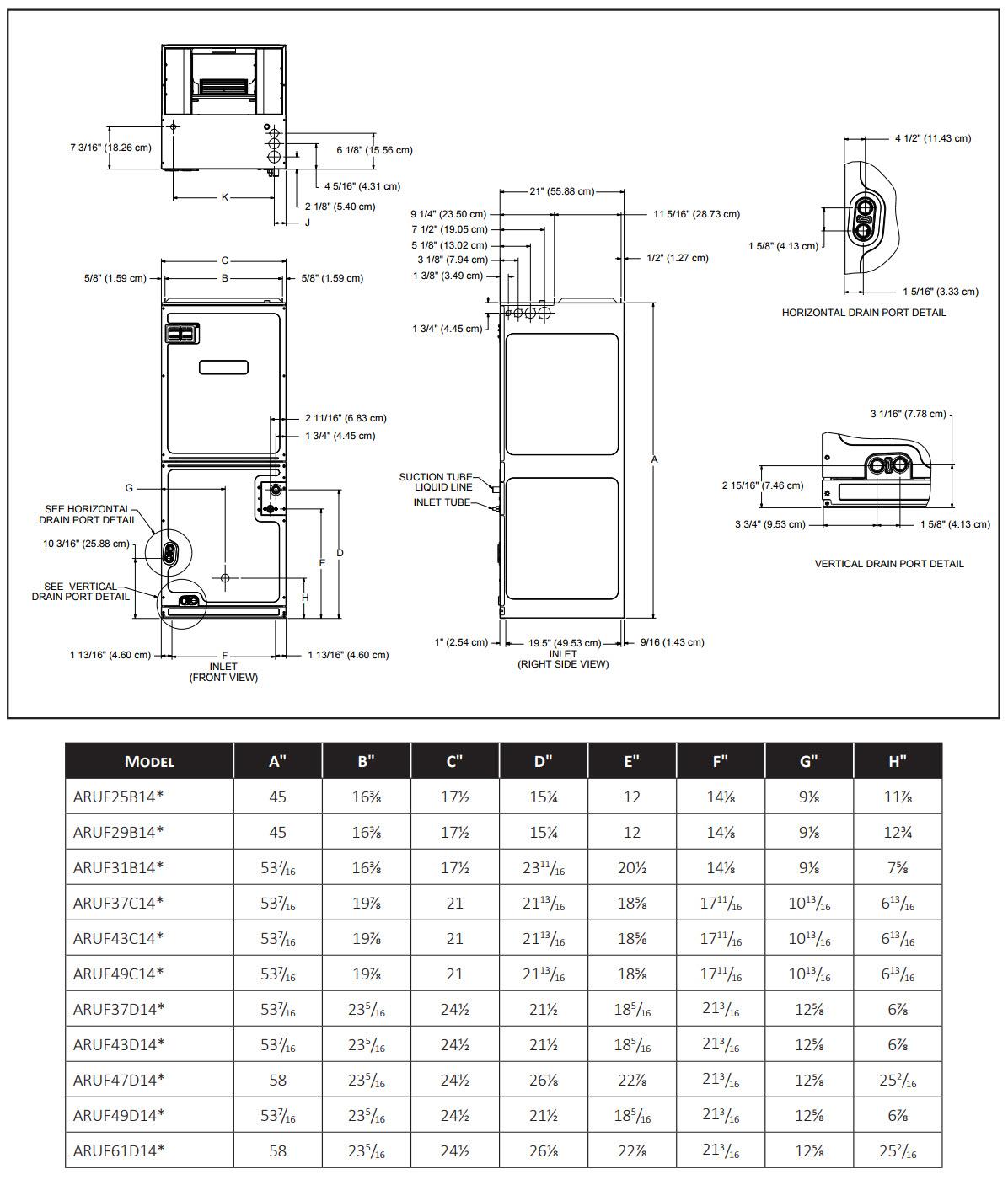 3 Ton 14 SEER Goodman Heat Pump Split System GSZ140361 ARUF37C14 R410ANest   eBay