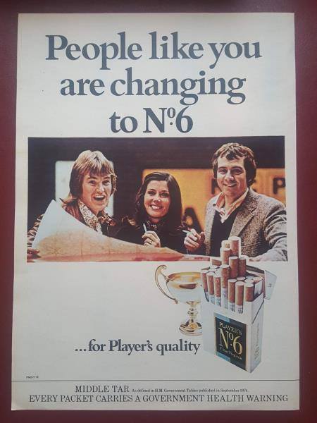 Image result for 1970s cigarettes advert uk