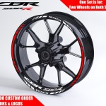 Honda Cbr500r Wheel Decals Rim Stickers Cbr 500r 500 R 600rr F4 F3 F4i Rims Set Ebay