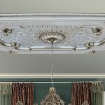 Big 94 Champagne Silver Rectangular Chandelier Ceiling Medallion Diy Ebay