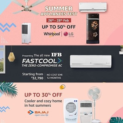Amazon Summer Appliance Fest Brings Discounts on ACs, Refrigerators, More
