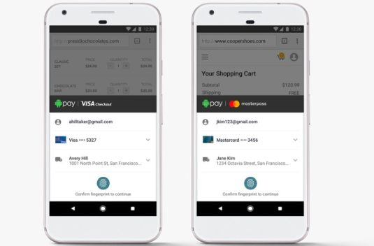 Android Pay Partners Visa and Mastercard for Faster Checkout