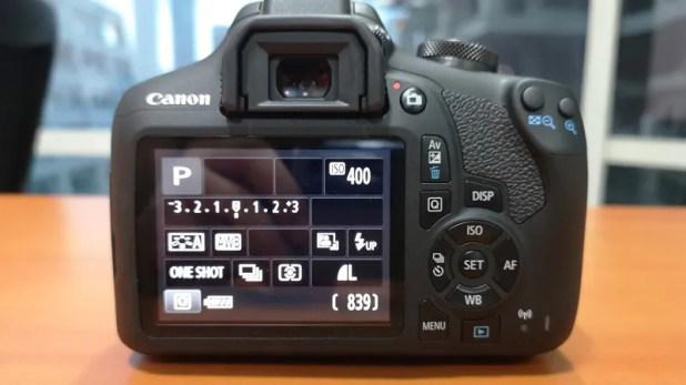 Canon EOS 1500D back ndtv canon