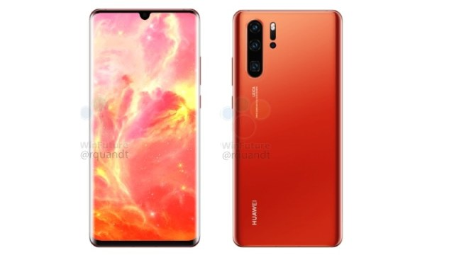 Huawei P30 Pro Alleged Renders Show sunrise Colour Variant, Reveal Absence of 3.5mm Headphone Jack