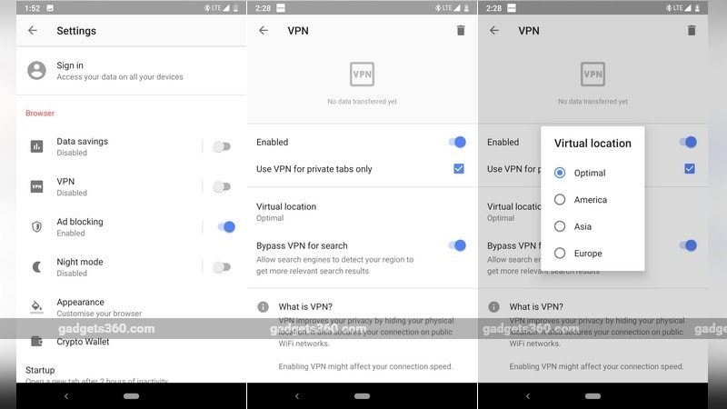 Opera Browser for Android Now Offers Free Inbuilt VPN