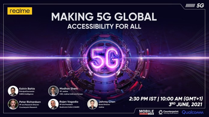 Realme GT 5G Expected at Today's Realme 5G Global Summit: Watch Live