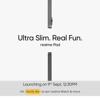 Realme Pad India Launch Date Set for September 9 via Virtual Event