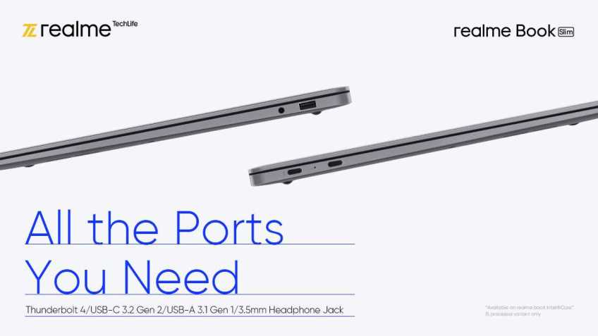 Realme Book Slim to Have Thunderbolt 4, May Get Intel Core i3 Model