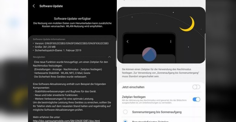 Samsung Galaxy S9، Galaxy S9 + Update Brings Night Mode Schedule، Wi-Fi Improvements، February Android Security Patch 1
