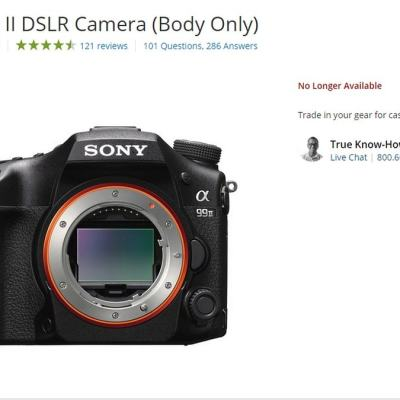 Sony May Have Discontinued Its A-Mount DSLR Cameras