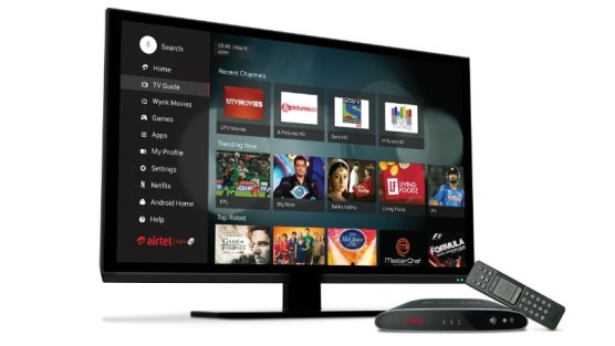 Airtel Launched Airtel Internet Tv android Set Top Box