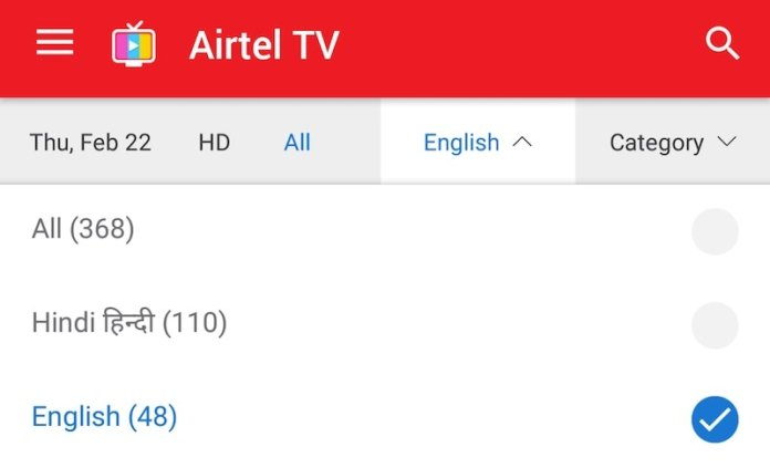 airtel tv channels airtel tv