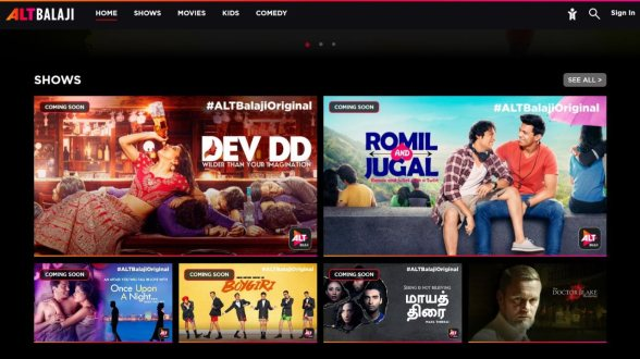 Balaji Telefilms' ALTBalaji Streaming Service Launches on Android and iOS