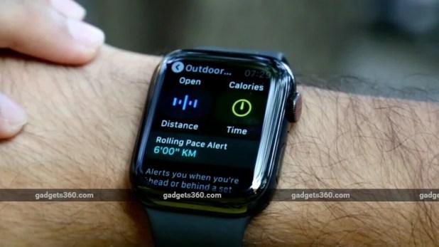 apple watch series 4 run gadgets 360 Apple Watch Series 4