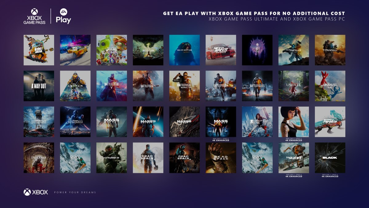 ea play xbox game pass all games xbox game pass ea play