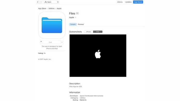 Files, Activity Placeholders Appear on App Store, Suggest WWDC Launch