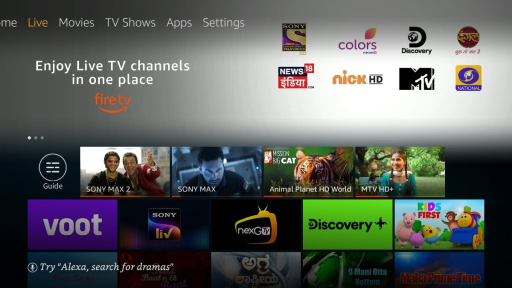 Amazon Fire TV users will now be able to watch live TV channels