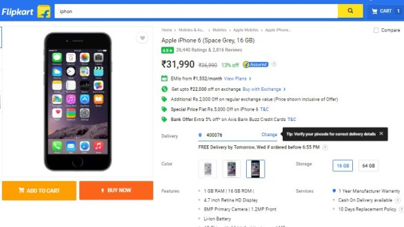 Flipkart iPhone 6 Exchange Offer Reduces Apple Smartphone's Price to Rs. 9,990