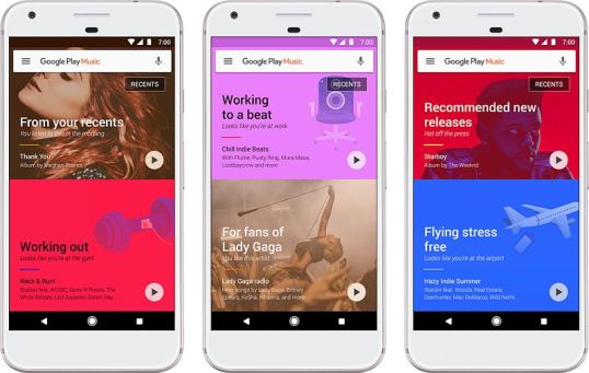 Google Play Music Revamp Brings Machine Learning Recommendations and More