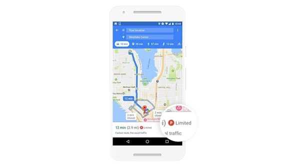 Google Maps for Android Gets Parking Difficulty Feature; Shows Parking Situation at Destination