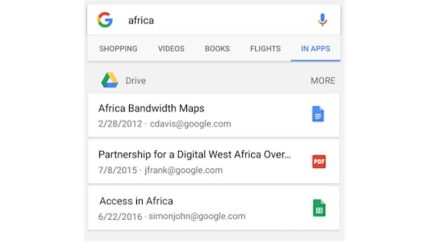 Google Search for Android Now Shows Your Google Drive Documents