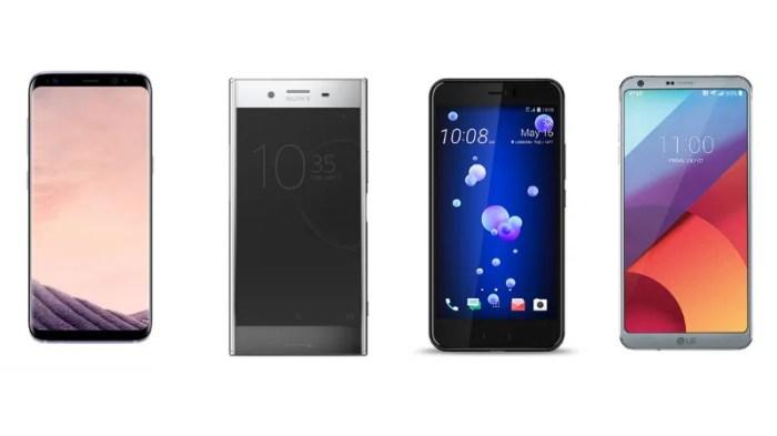 HTC U11 vs Samsung Galaxy S8 vs LG G6 vs Sony Xperia XZ Premium: Price in India, Specifications Compared