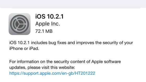 iOS 10.2.1, macOS 10.12.3 Updates Available to Download: Here's What's New