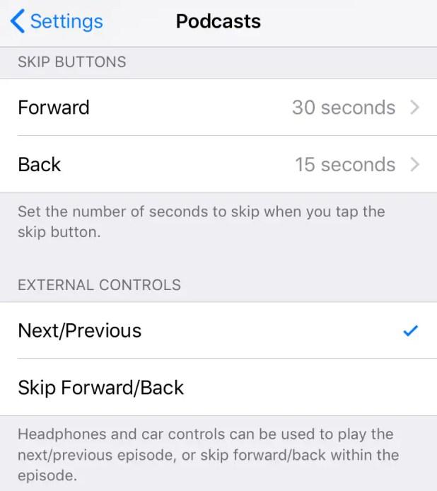iOS 12 apple podcast settings iOS 12