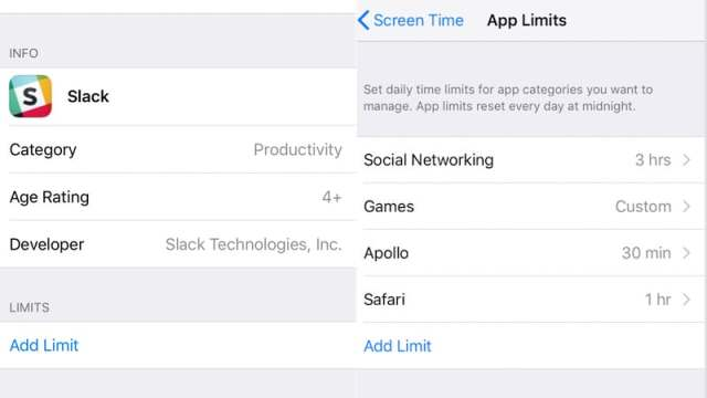 iOS 12 Apple screen time limit application sc iOS 12