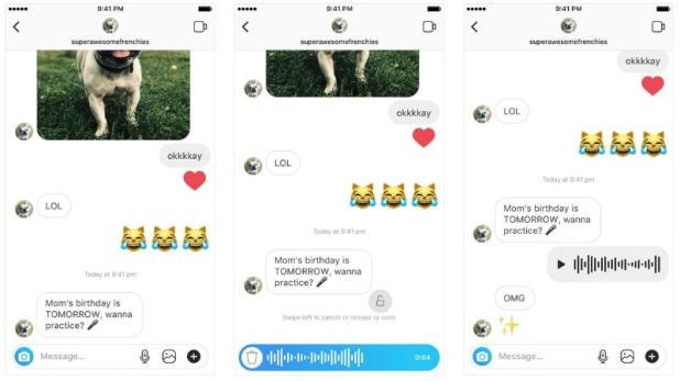 Instagram Direct Gets 'Walkie-Talkie' Style Voice Messaging Feature