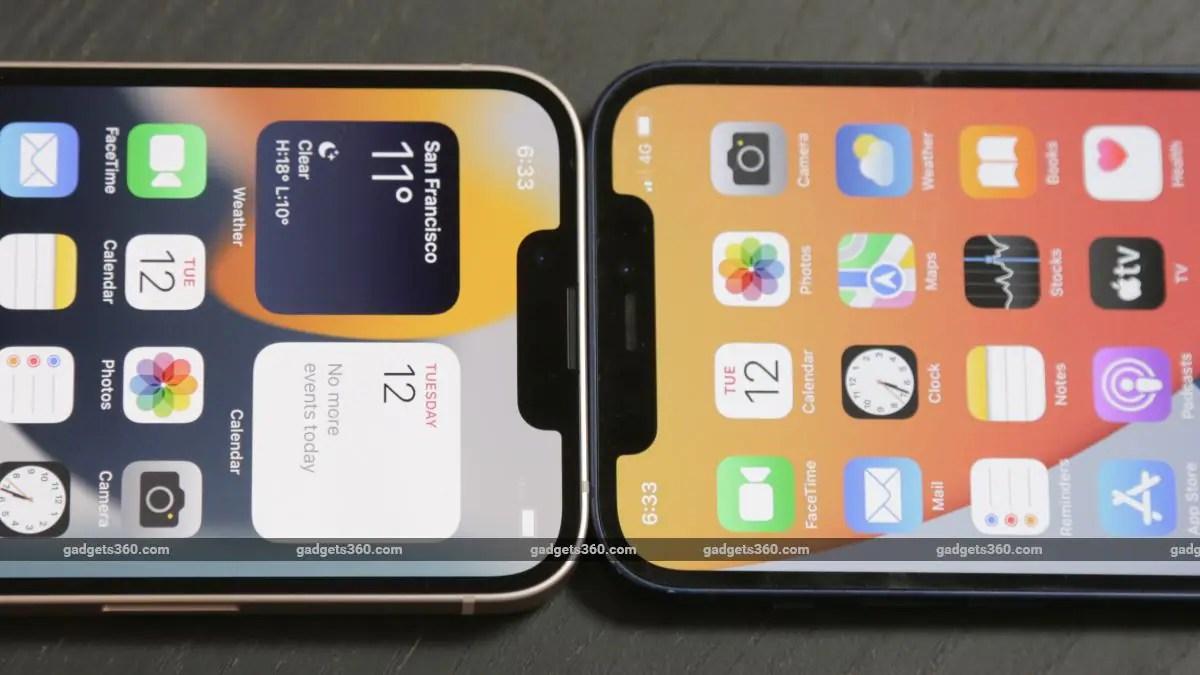 iphone 13 mini notch ndtv iphone