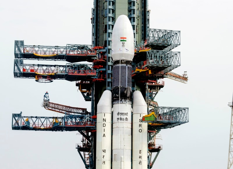 GSLV-Mk III Takes Off With GSAT-19 Communications Satellite on Board