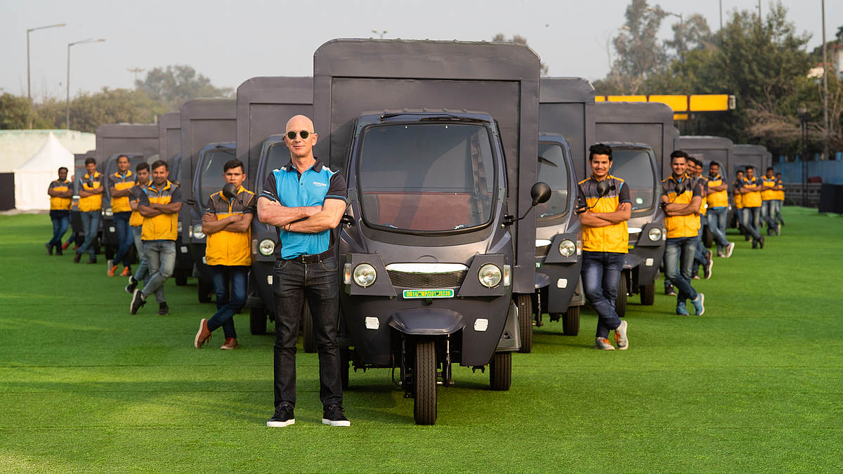 Amazon's Plans To Go All Electric Delivery In India By 2025