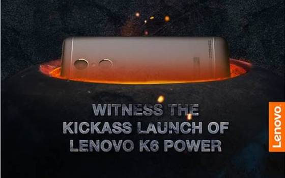 Lenovo Vibe K6 Power India Launch Set for Tuesday