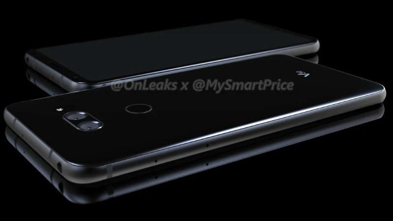 LG V30 Render Leak Tips Dual Camera Setup, Rear Fingerprint Scanner