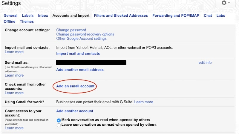 manage another account gmail