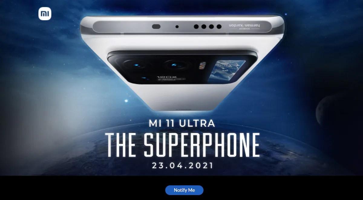 Mi 11 Ultra भारत में 23 अप्रैल को होगा लॉन्च, Xiaomi ने किया खुलासा