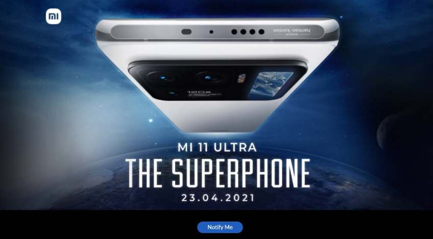 Mi 11 Ultra Set to Launch in India on April 23, Registrations Go Live