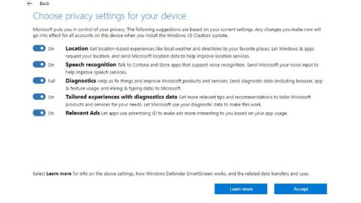 Microsoft Details What Data Windows 10 Gleans With Full, Basic Collection